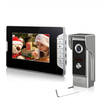 Wired Video Doorbell Intercom System 7''Inch Color Screen ,Dual-way Intercom,Monitor,Unlock with Night Vision Camera