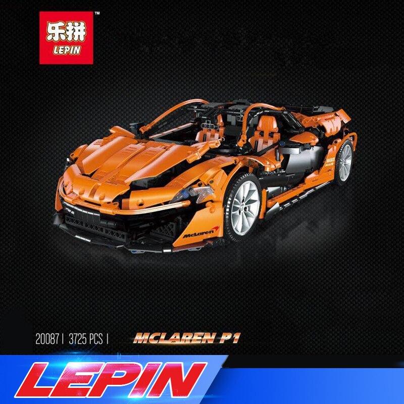 Presell 20087 Technic le MOC-16915 P1 Orange Super voiture de course McLareninglys blocs de construction Hypercar Set enfants jouets
