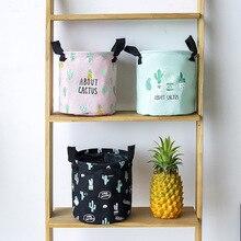 Cactus Series Bedroom Childrens Storage Bucket Small Fabric Cotton Linen Desktop