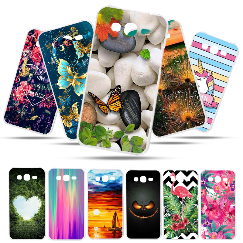 Bolomboy Painted <font><b>Case</b></font> For <font><b>Samsung</b></font> Galaxy <font><b>Grand</b></font> <font><b>2</b></font> <font><b>G7102</b></font> <font><b>Case</b></font> Silicone <font><b>Cases</b></font> For <font><b>Samsung</b></font> G7106 Cover Wildflowers Cute Animal Bags image