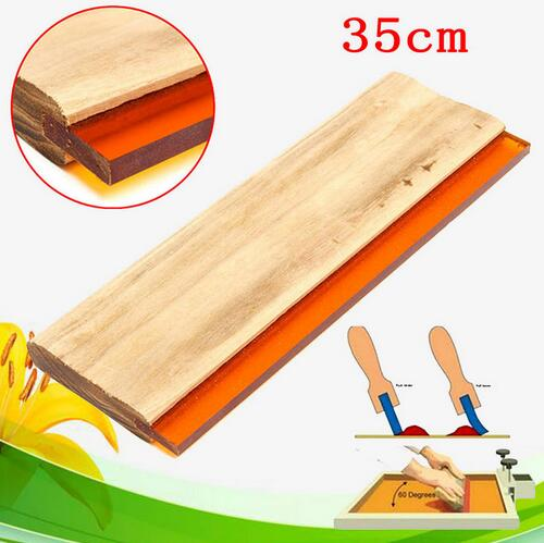 free shipping 1Pcs 35cm Silk Screen Printing Squeegee Blade Wood Handle Printing Squeegee Scraper For Printing nitto 668g2 printing machine squeegee