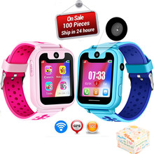 WISHDOIT2019 Hot children phone watch SOS Emergency call lighting watch LED color screen health and safety Kid positioning watch(China)