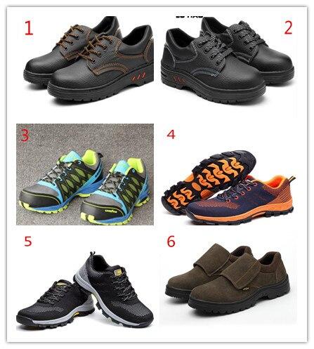 Assemblare un certo numero di assicurazione del lavoro scarpe, abbattere il assicurazione del lavoro di scarpe, lavoro di usura di usura-resistente scarpe