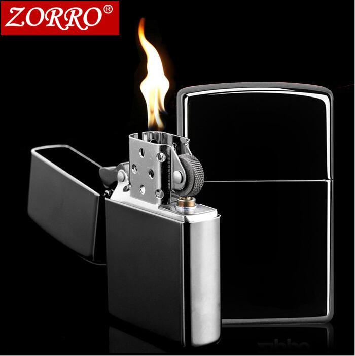 Zorro genuine old kerosene thin lighter wind Copper lighters genuine creative personality
