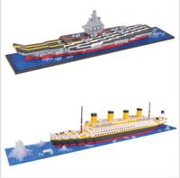YZ Building Blocks aircraft carriers titanic ship model building blocks compatible with legoe school educational supplies toys