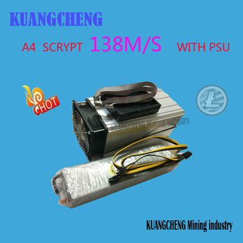 FERR SHIPPING   KUANGCHENG Mining industry sell A4 Dominator 138M Litecoin 14nm SCRYPT Miner with  power supply  better than A2