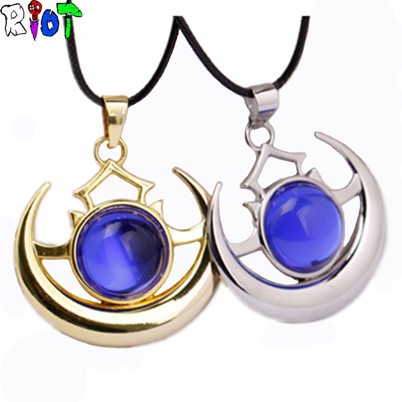Hot Online Game Dota 2 Hero props shadow amulet choker Necklace pendant Blue Crystal Rope Chain Cosplay Accessories Jewelry Gift