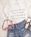 SexeMara Fresh Casual Cotton T Shirt  Women Tops  Play With Fairies White T shirt For Women