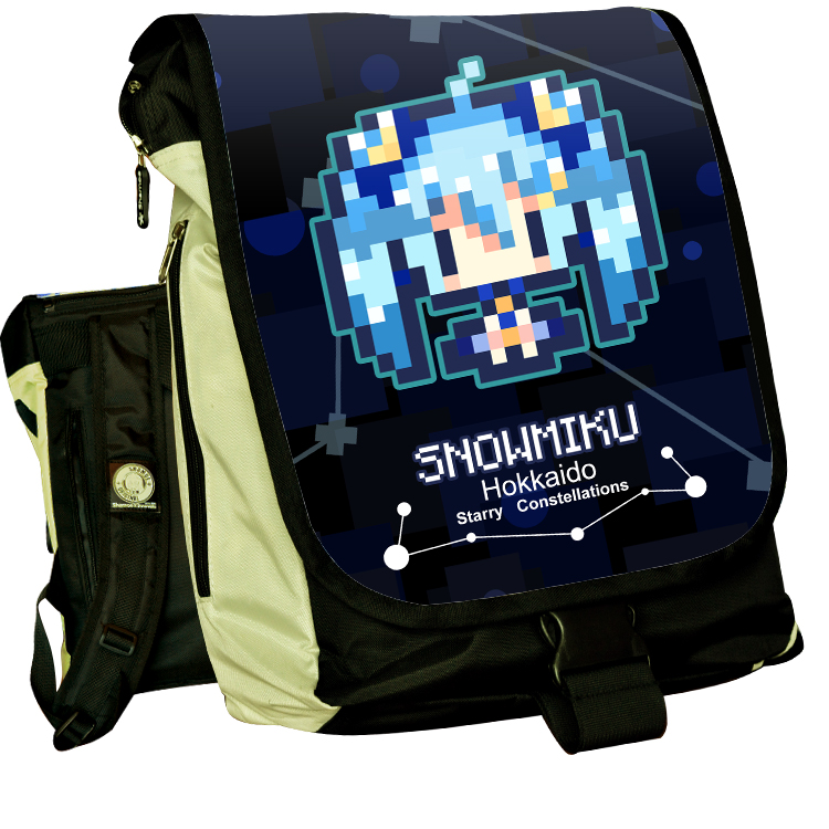 Anime Hatsune Miku COSPLAY Kanbe Kotori Casual fashion for men and womenComputer Backpack Student Bag Backpack anime seraph of the end cosplay yuichiro hyakuya casual fashion for men and womencomputer backpack student bag backpack