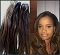Grade 10a facotry price brazilian virgin hair #1b/#27 highlight mixed piano color hair extensions weaves 3pcs 4pcs/lots