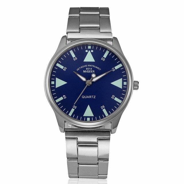 New Mens Watche Mens Stainless Steel Wrist Watch Fashion Men Luxury Business Crystal Analog Quartz Wrist Watch Bracelet Relogio