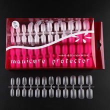 288pcs/Case Square Ultra Thin Clear Full Cover Acrylic False Nail Tips ABS material Coffin Shape Frosted Surface