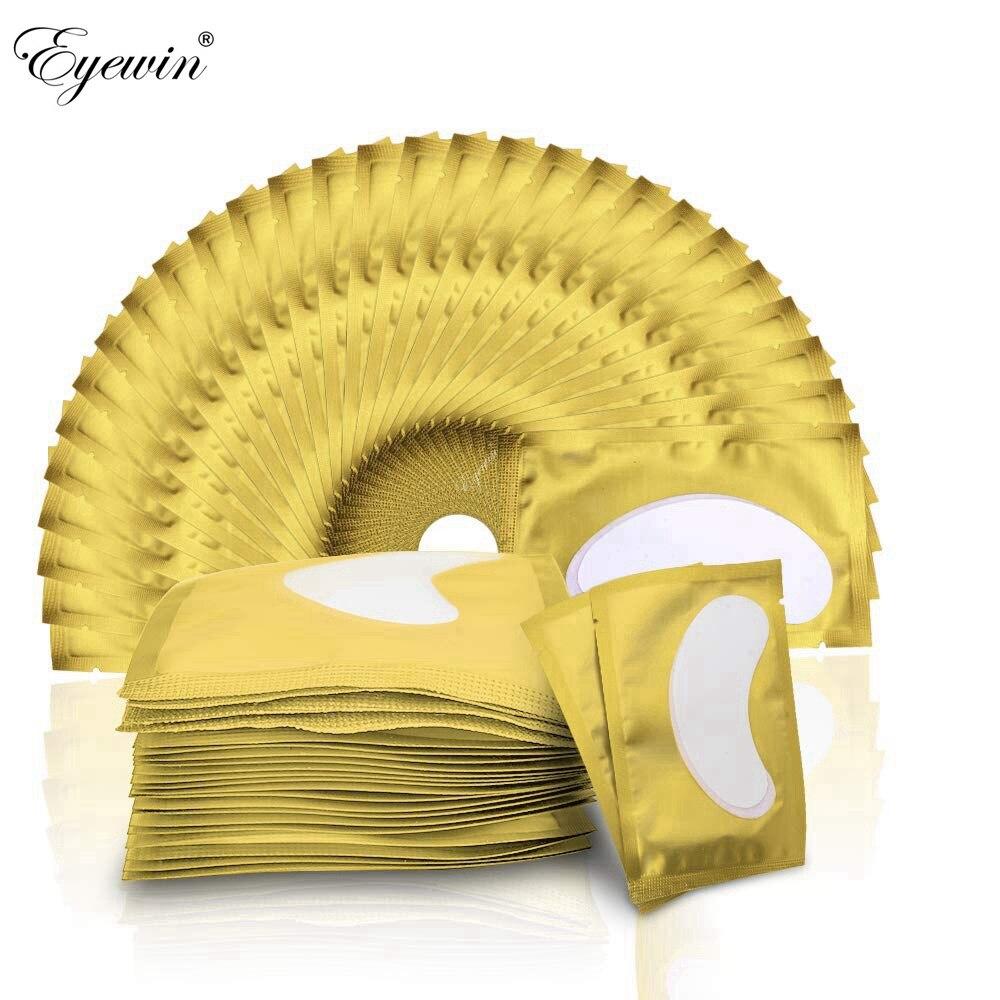 50/100 pairs almofada remendo para cílios extensão lash lint livre olho almofada maquiagem cílios extensão kit ferramentas acessórios suprimentos