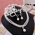 Corea joyas collar de perlas de novia Parure Lu accesorios de la boda joyería de la boda de la fábrica al por mayor Caliente
