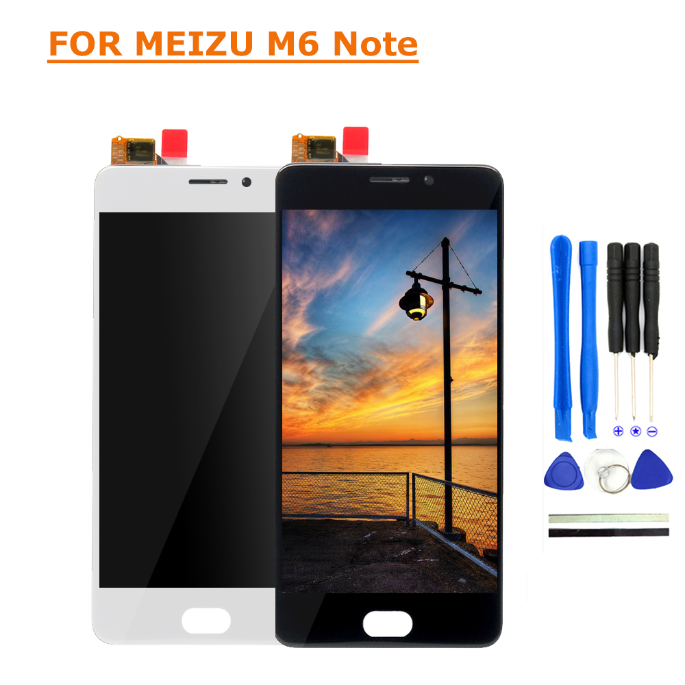 For Meizu M6 Note LCD Display Touch Screen 5.5 FHD Test Good Digitizer Assembly Replacement For Meizu M6 Note mobile phone