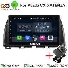 """1024*600 Octa Rdzeń 2 Din 10.1 """"Android 6.0 Radio Samochodowe DVD GPS dla Mazda CX-5 CX 5 Atenza Z 2 GB RAM Bluetooth 4G WIFI 32 GB ROM"""