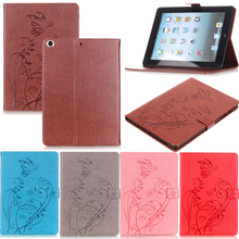 Tablet iPad5 Funda For iPad Air 1 Fashion Butterfly Embossed Leather Magnetic Flip Wallet Case Cover 9.7 inch Coque Shell Stand luxury fashion pu leather flip wallet cover for apple ipad air 2 ipad6 case tablet for ipad air 1 ipad5 9 7 inch cute owi lovely