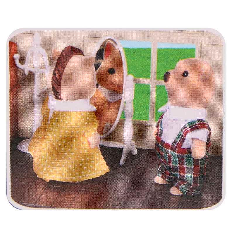 Новая Винтажная миниатюрная мебель для спальни набор комод настольное зеркало мебель набор игрушек для детей Рождественский подарок кукольный домик аксессуары