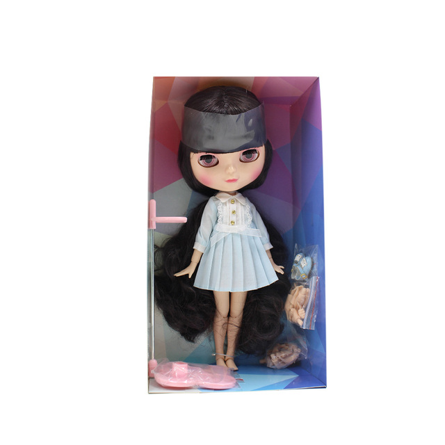 ICY Neo Blythe Doll Full Combo Box Deep Purple Hair