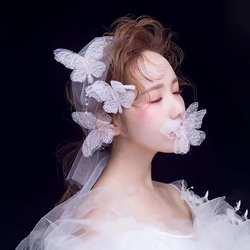Шт. 2 шт. марли бабочка искусственный жемчуг для женщин повязка на голову Свадебные украшения