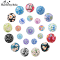 Mix Sale Retail 20mm Harmony Bola Baby Chime Ball Charm Chinese Style Candy Color Printing Mexican Bola Pendant Mum to Be Gift