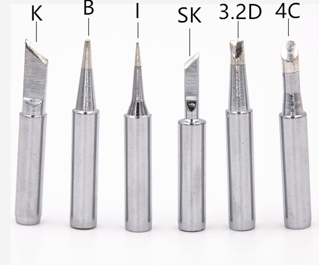 For Hakkoo soldering rework station soldering iron station Free shipping 6Pcs/lot pure copper Iron tip 900M-T soldering tip