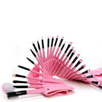 Hot Sale Pink 32pcs Pro Soft Makeup Brush Set Cosmetic Brushes Kit Pouch Bag Amazing Makeup