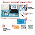 Panoramisch Laparoscopische chirurgie simulator Halfrond training box + Endoscoop + 4 trainingsapparatuur + standaard training module Y-in Gereedschapsdelen van Gereedschap op