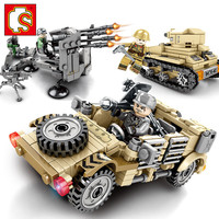 Empires Of Steel Series 4pcs/lot Battlefield Legoing WW2 Tank Army Toy Blocks Military Vehicles World War 2 Toys For Children
