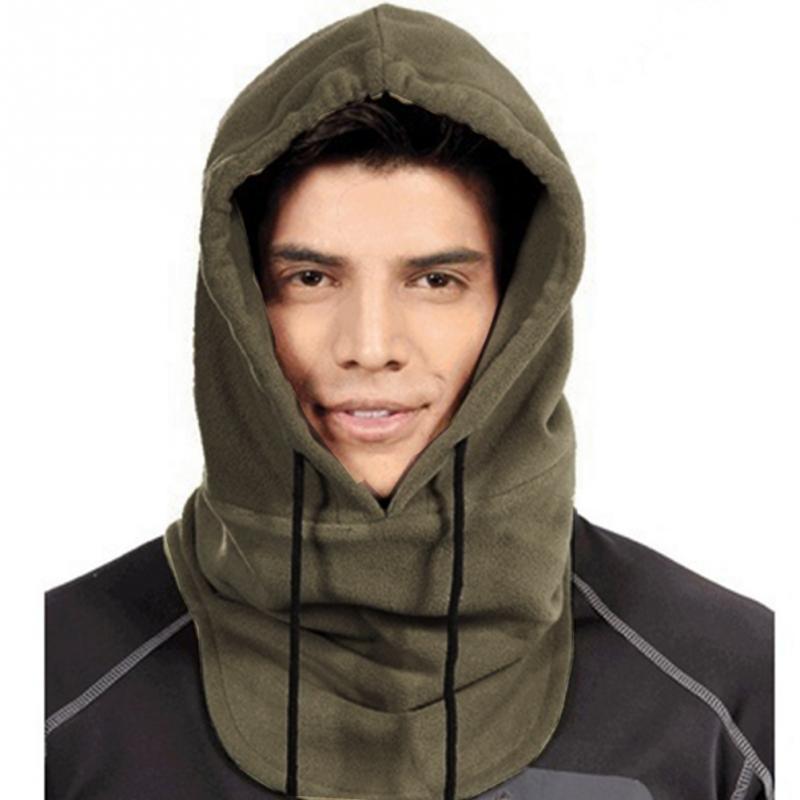 Mens Full Face Mask Balaclava Hat Hood Cover Scarf Neck Hats Polar Fleece Winter Fashion Warmer Caps