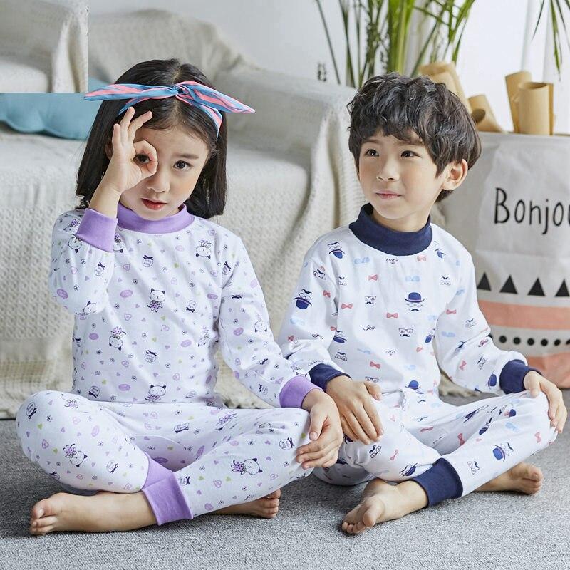 Obligatorisch Kostenloser Versand Thermische Unterwäsche Für Kinder Frühling Herbst Kinder Baumwolle Lange John Set Baby Thermische Kleidung Kinder Herbst Hause Tragen