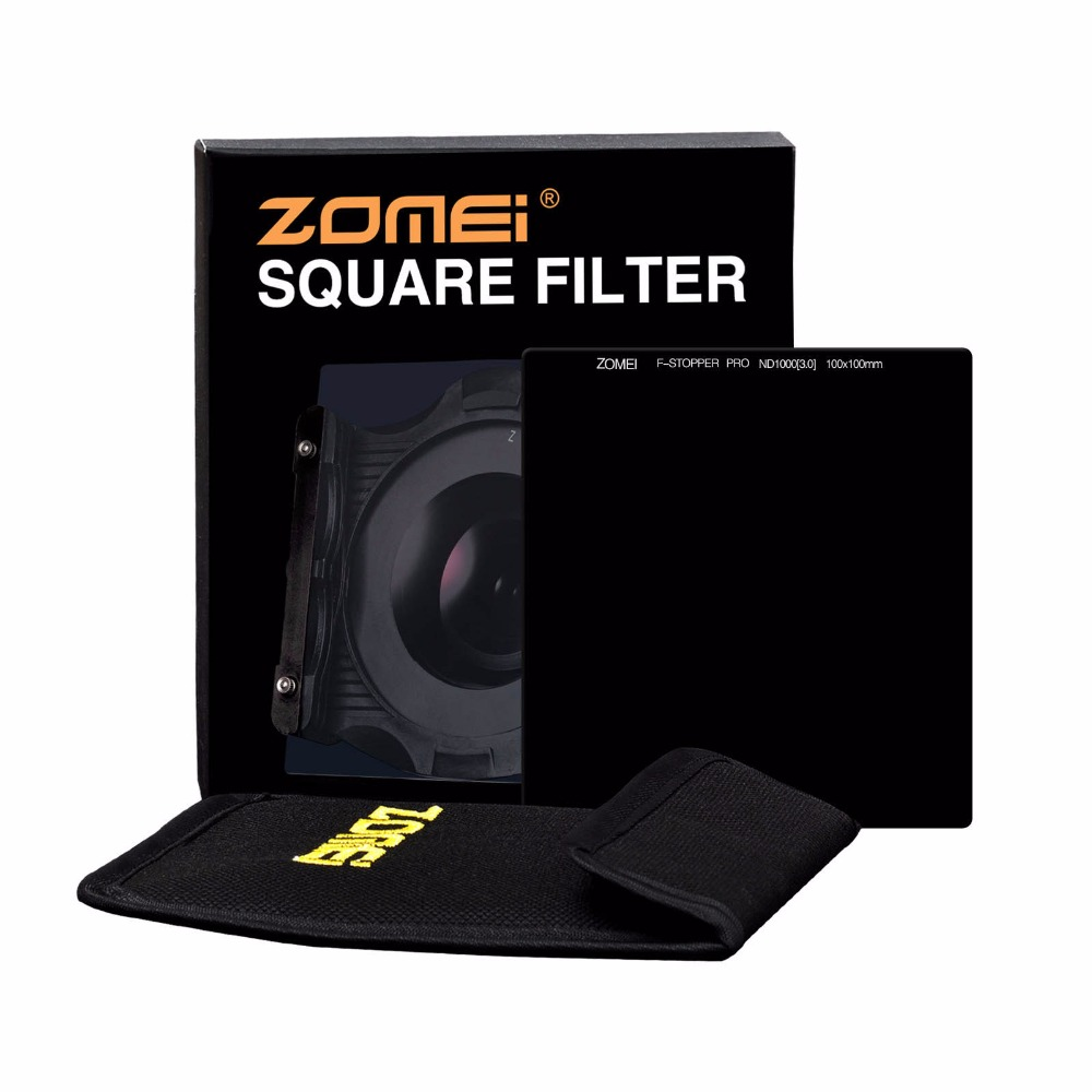 Zomei 100 мм квадратный фильтр ND1000 Pro Оптическое стекло 100x100 мм 10 стоп ND3.0 ND фильтр для Cokin Z серии Lee Hitech Singh Ray - 6