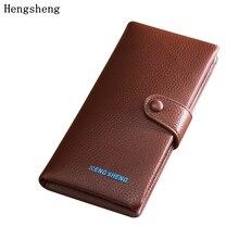 Hengsheng Man Wallet high quality Men Wallets Famous Brand PU Leather Male Money Purses Letter Classic Soild Pattern Designer