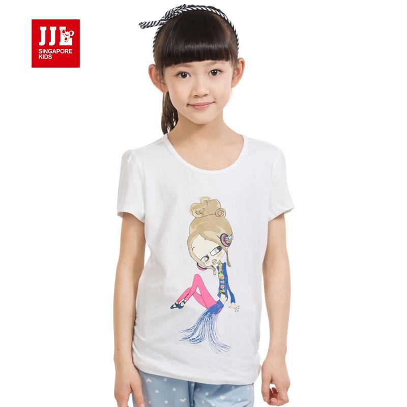 2016 summer new arrival cartoon t shirts kids short sleeve tshirts girls tees kid tops brand