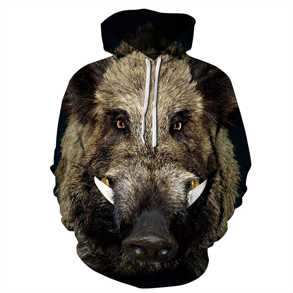 Wild Boar 3D Sweatshirt Men Women Hoodies Plus Size Pullover Novelty Casual Pig