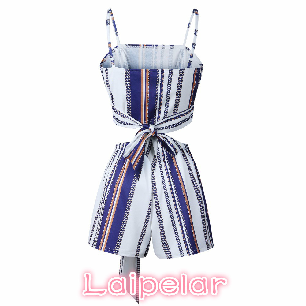 Women Sets Casual Spaghetti Straps Sleeveless Top Shorts Stripe Sexy Summer Evening Party Clothes Laipelar in Women 39 s Sets from Women 39 s Clothing