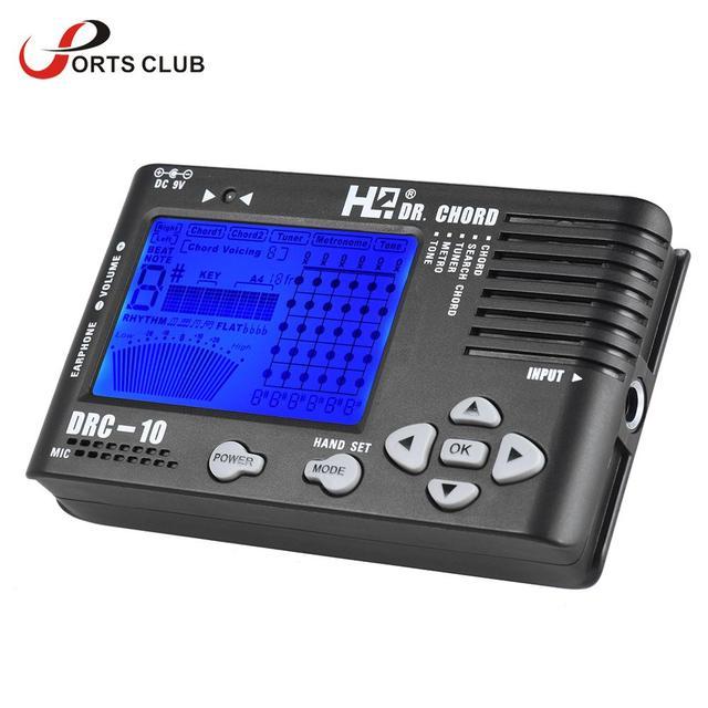 4 in 1 Electronic Digital Guitar Tuner Chromatic Metronome Tone ...