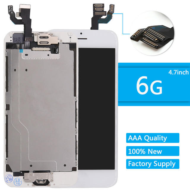 best service 7de74 a03a7 US $26.99 |For iPhone 6 Screen Home button front camera speaker for iphone  6 LCD screen Display Assembly highscreen Replacement White -in Mobile Phone  ...