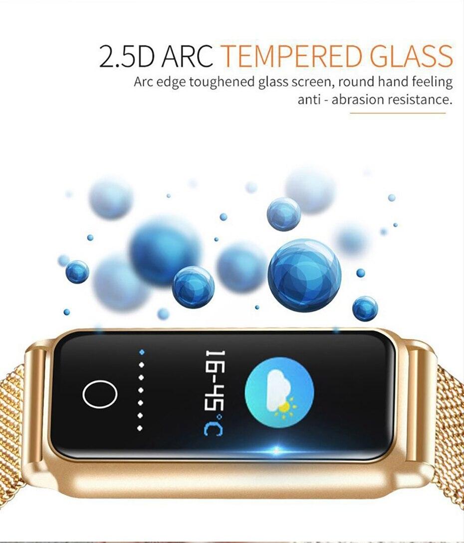Y8 Smart Watch Stainless Steel Women Sports Touch Screen Health Bracelet Ons Men Fitness Bracelet for Measuring Pressure Fitness 2018 2019 (5)