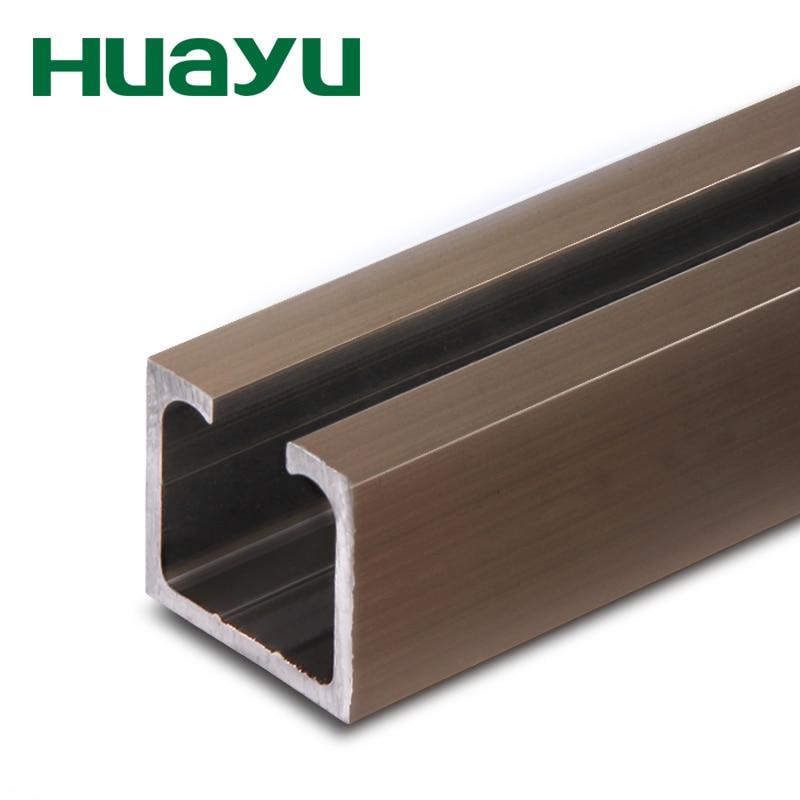 Huayu thickened sliding door rail folding door glass wood frame door ...