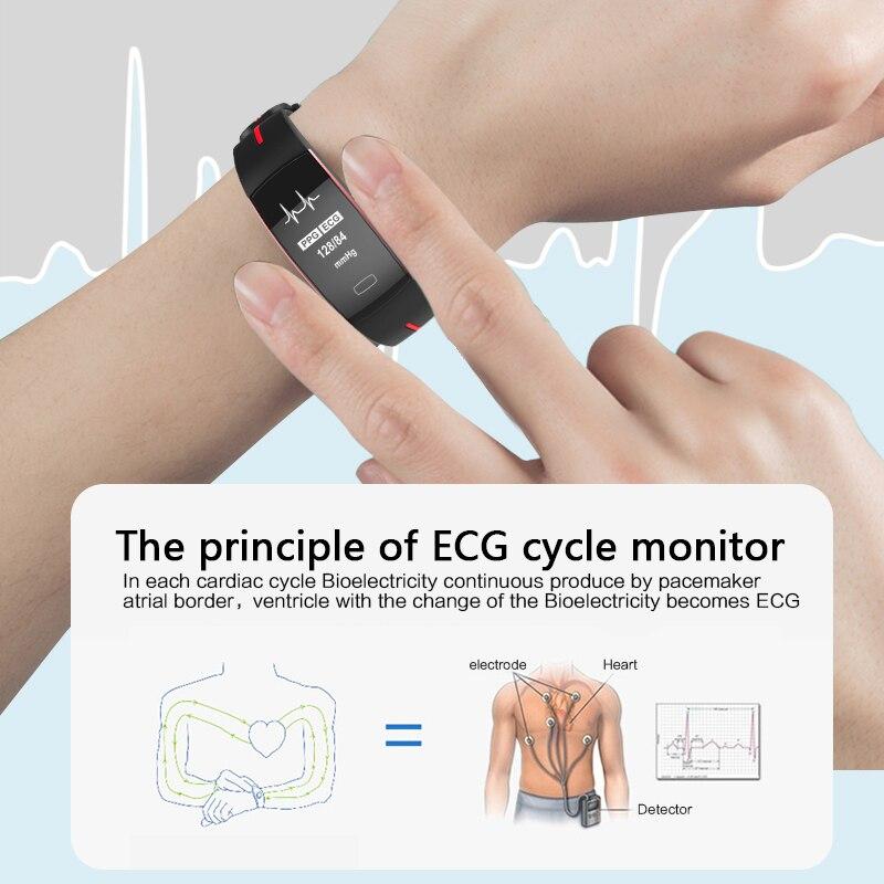 KAIHAI sport pression artérielle montres intelligentes pour hommes moniteur de fréquence cardiaque relogio inteligente PPG ECG smartwatch montre connectée-in Montres connectées from Electronique    2