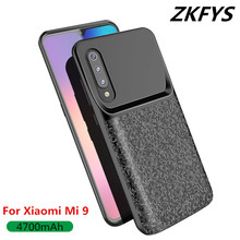ZKFYS 4700mAh Ultra Thin Fast Charger Battery Cover For Xiaomi mi 9External Power Bank Case Mi 9 Charging