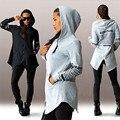Nuevo 2016 Otoño Mujeres Chaqueta de Bombardero Negro Casual Nuevo Estilo Outwear Delgada Larga Chaqueta de Béisbol Delgado Mujeres Abrigos Básicos