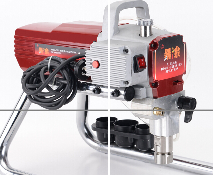Professional High quality Airless Spray Gun electric Paint Sprayer XKX318 Machine with 50cm extend pole 519/517 Nozzle Tips