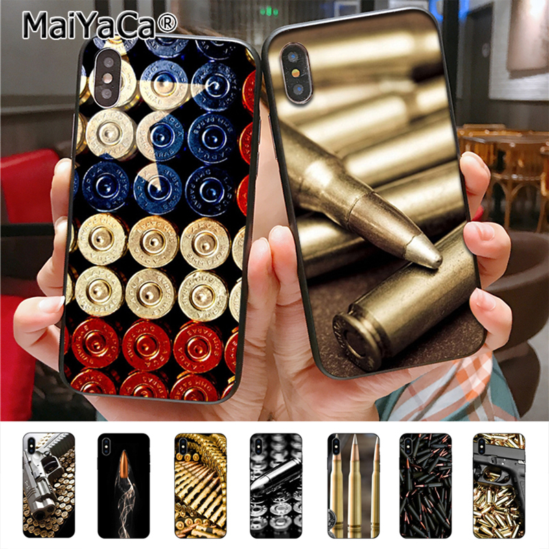 Brave Maiyaca Loose Gold Bullets Gun Bullet New Luxury Fashion Cell Phone Case For Apple Iphone 8 7 6 6s Plus X 5 5s Se 5c Cass Waterproof Phone Bags & Cases Shock-Resistant And Antimagnetic