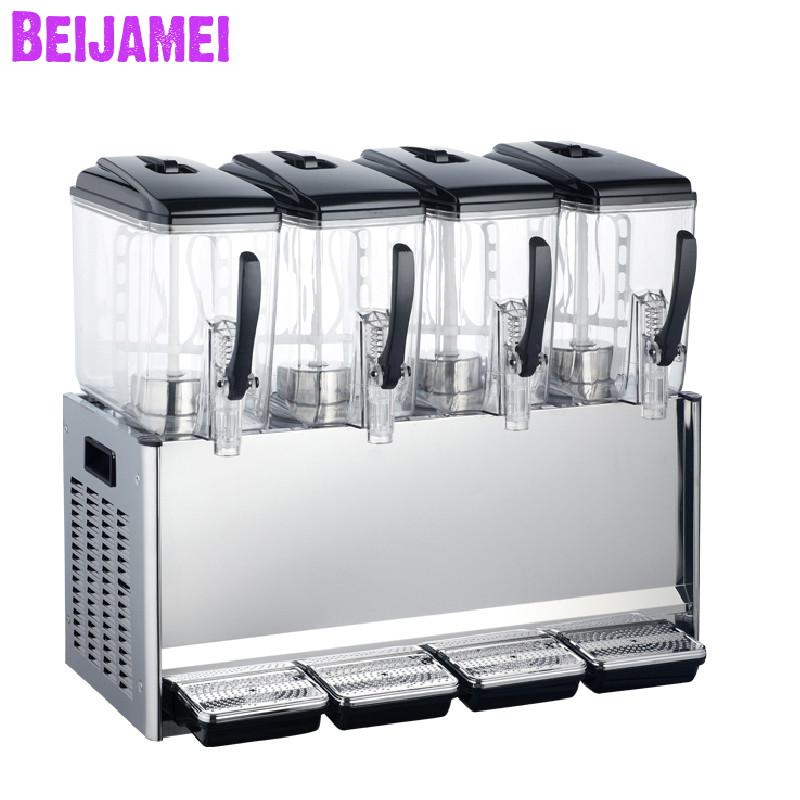 BEIJAMEI 12L*4 Commercial beverage juice machine automatic cold drinks machine hot and cold fruit juice dispenserBEIJAMEI 12L*4 Commercial beverage juice machine automatic cold drinks machine hot and cold fruit juice dispenser