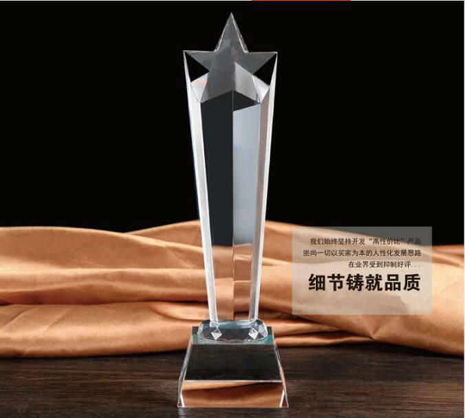 High quality!Customized Crystal Trophy Star Decorative Glass Award Sport Events Souvenirs Annual Meeting Awards Music Trophy trophy