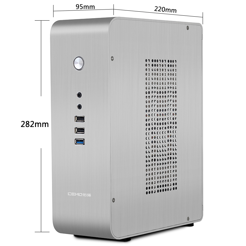 9000 aluminum small computer desktop computer case vertical desktop itx computer case small 1u power supply big promotion mini itx [1118] motherboard dedicated blade flex small 1u power supply advertising