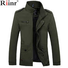 Riinr 2017 Brand New Arrival Male Jacket Slim Fit High Quality Mens Autumn  Clothing Man Jackets Zipper Warm Cotton-Padded