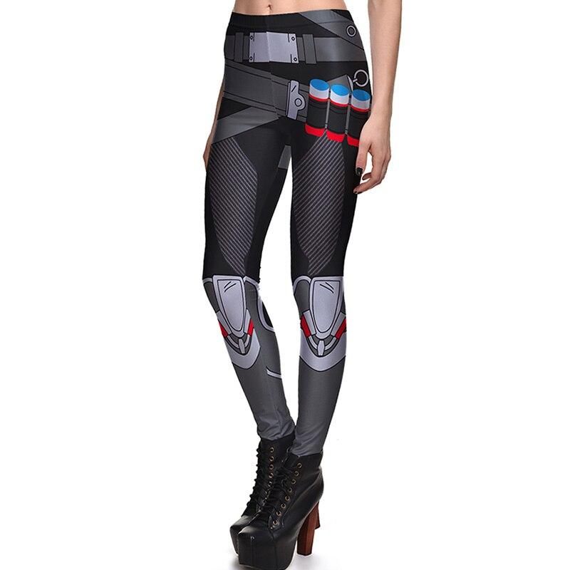 New Arrival 3798 Sexy Girl Superhero Deadpool Reaper Batman Printed Elastic Fitness Polyester Workout Women Leggings Pants Plus